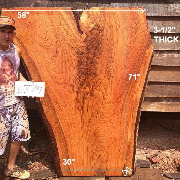 "Jatoba / Brazilian Cherry - 3-1/2"" x 30"" to 58"" x 71"" - Big Wood Slabs"
