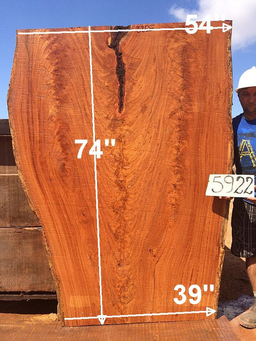 "Angelim Pedra #5922 - 2-1/2"" x 39"" to 54"" x 74"" FREE SHIPPING within the Contiguous US. - Big Wood Slabs"
