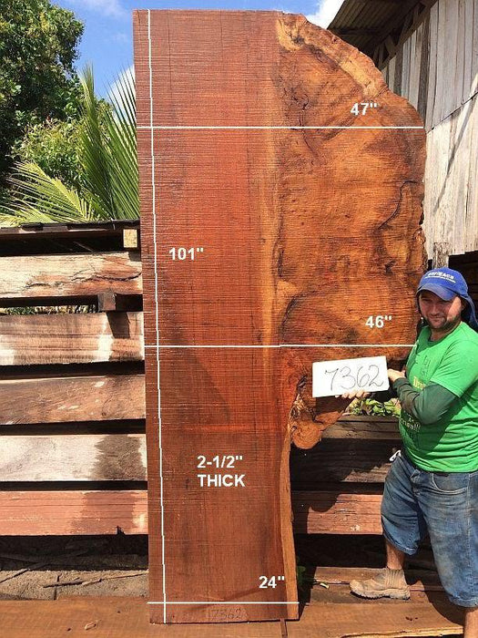 "Quaruba - 2 1/2"" x 24"" to 47"" x 101"" - Big Wood Slabs"