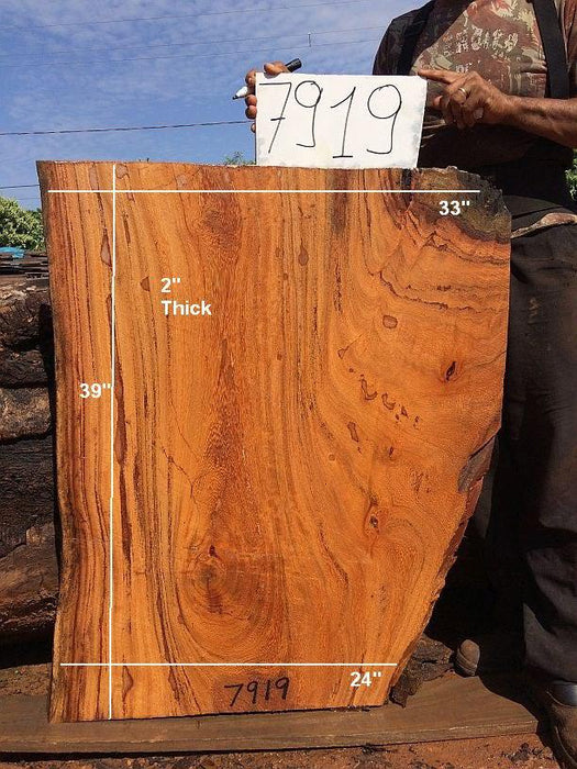 "Angelim Pedra #7919 - 2"" x 24"" to 33"" x 39"" FREE SHIPPING within the Contiguous US. - Big Wood Slabs"