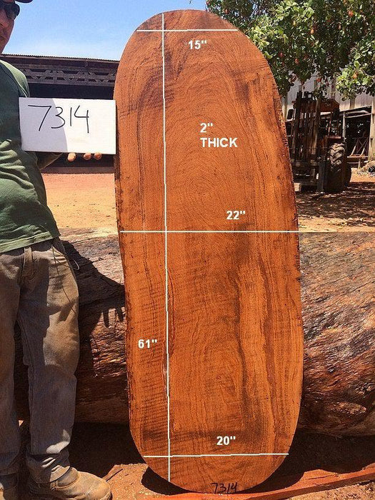 "Angelim Pedra #7314 - 2"" X 15"" to 22"" X 61"" - Big Wood Slabs"