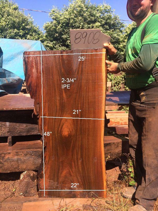 Ipe / Brazilian Walnut - 2-3/4″ x 21″ to 25″ x 48″ - Big Wood Slabs