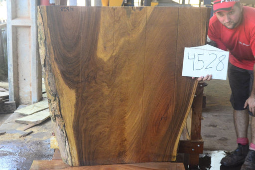 "Cumaru / Brazilian Teak #4528 - 4"" x 27"" to 45"" x 41"" FREE SHIPPING within the Contiguous US. - Big Wood Slabs"