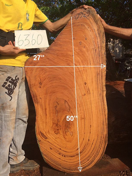 "Angelim Pedra #6360 - 2-1/2"" x 20"" to 21"" x 50"" FREE SHIPPING within the Contiguous US. - Big Wood Slabs"