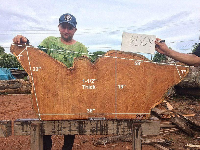 "Garapa - 1-1/2"" x 19"" to 22"" x 59"" - Big Wood Slabs"