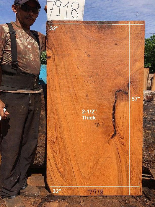 "Angelim Pedra #7918 - 2-1/2"" x 32"" x 57"" FREE SHIPPING within the Contiguous US. - Big Wood Slabs"