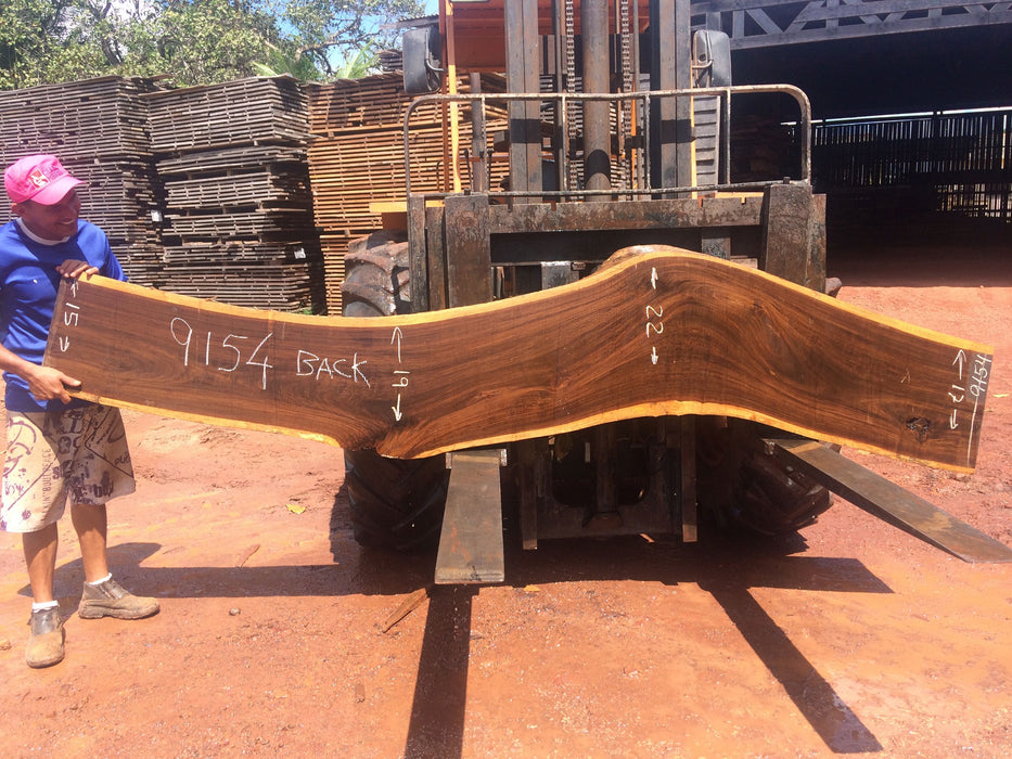 "Ipe / Brazilian Walnut #9154 - 2-1/2"" x 14"" to 22"" x 123"" FREE SHIPPING within the Contiguous US. - Big Wood Slabs"