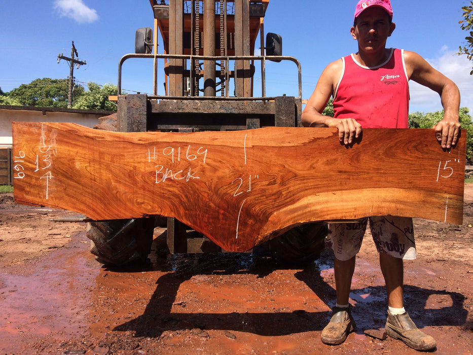 Jatoba / Brazilian Cherry #9169– 2″ x 13″ to 21″ x 78″ FREE SHIPPING within the Contiguous US. - Big Wood Slabs