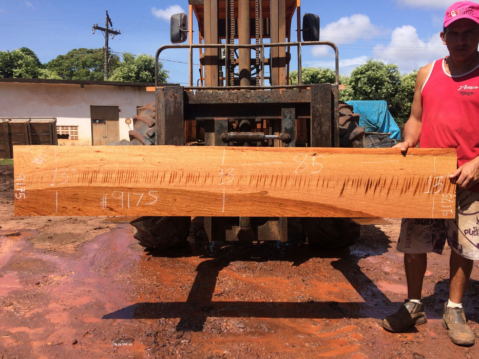 "Jatoba / Brazilian Cherry #9175– 1-3/4″ x 13"" x 85″ FREE SHIPPING within the Contiguous US. - Big Wood Slabs"