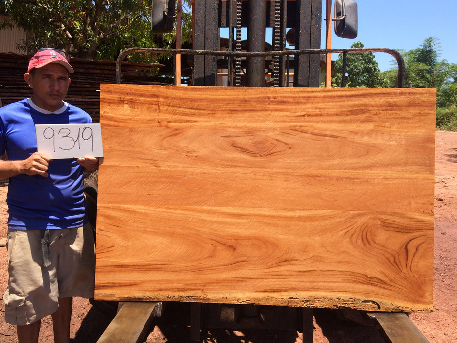 "Goncalo Alves / Tigerwood #9319 - 1-3/4"" x 40"" to 40"" x 60"" FREE SHIPPING within the Contiguous US. - Big Wood Slabs"