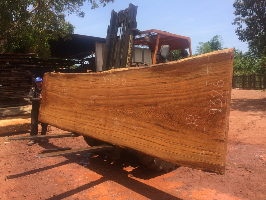 "Angelim Pedra #9326 - 2-5/8"" x 45"" to 52"" x 180"" FREE SHIPPING within the Contiguous US. - Big Wood Slabs"