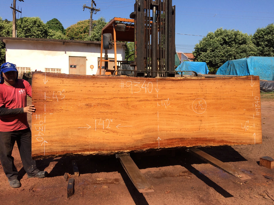 "Angelim Pedra #9340 - 2-1/2"" x 42"" to 46"" x 142"" - Big Wood Slabs"