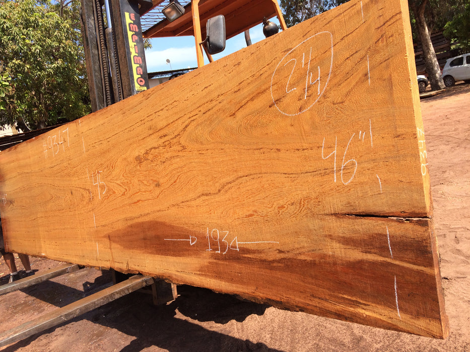 "Angelim Pedra #9347 - 2-1/4"" x 45"" to 46"" x 193"" - Big Wood Slabs"