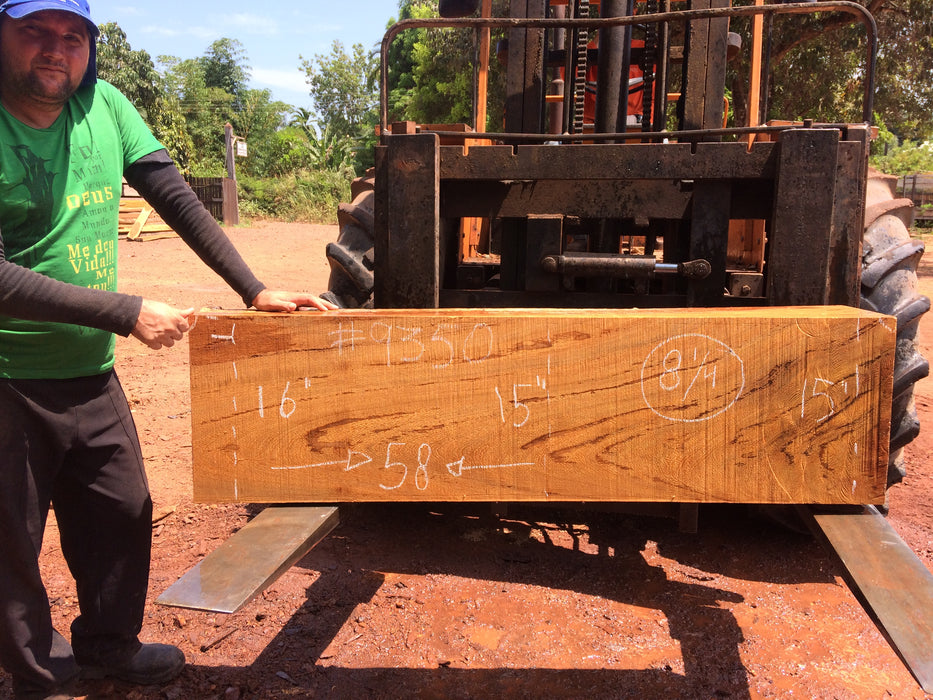 "Angelim Pedra #9350 - 8-1/4"" 15"" to  16"" x 58"" FREE SHIPPING within the Contiguous US. - Big Wood Slabs"