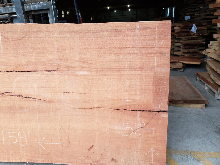 "Angelim Pedra # 9371 - 2-5/8"" x 52"" to 57"" x 158"" FREE SHIPPING within the Contiguous US. - Big Wood Slabs"