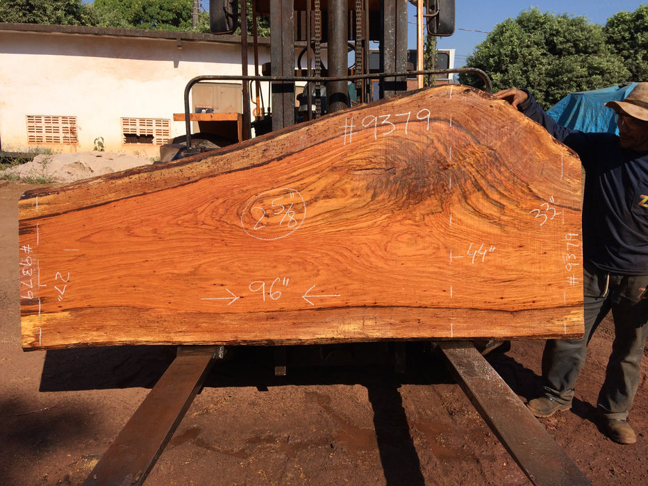Jatoba / Brazilian Cherry # 9379 – 2-5/8″ x 27″ to 44″ x 96″ FREE SHIPPING within the Contiguous US. - Big Wood Slabs