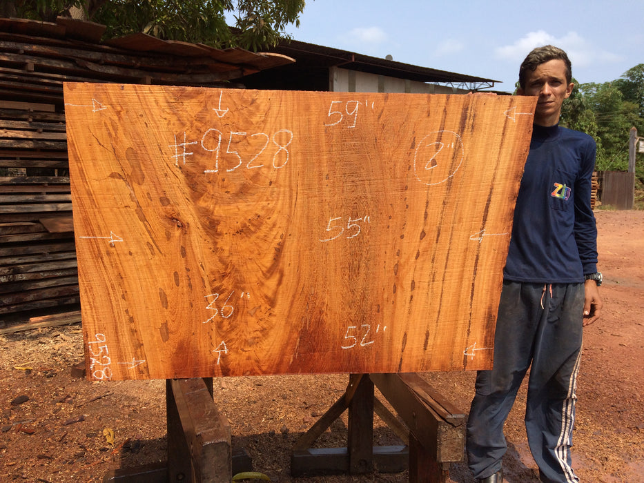 "Angelim Pedra # 9528 - 2"" x 52"" to 59"" x 36"" - Big Wood Slabs"