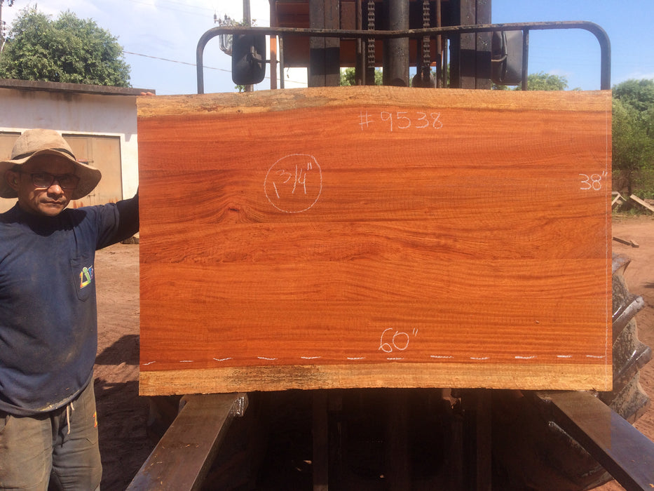 Jatoba / Brazilian Cherry # 9538 – 1-3/4 x 38″ x 60″ FREE SHIPPING within the Contiguous US. - Big Wood Slabs