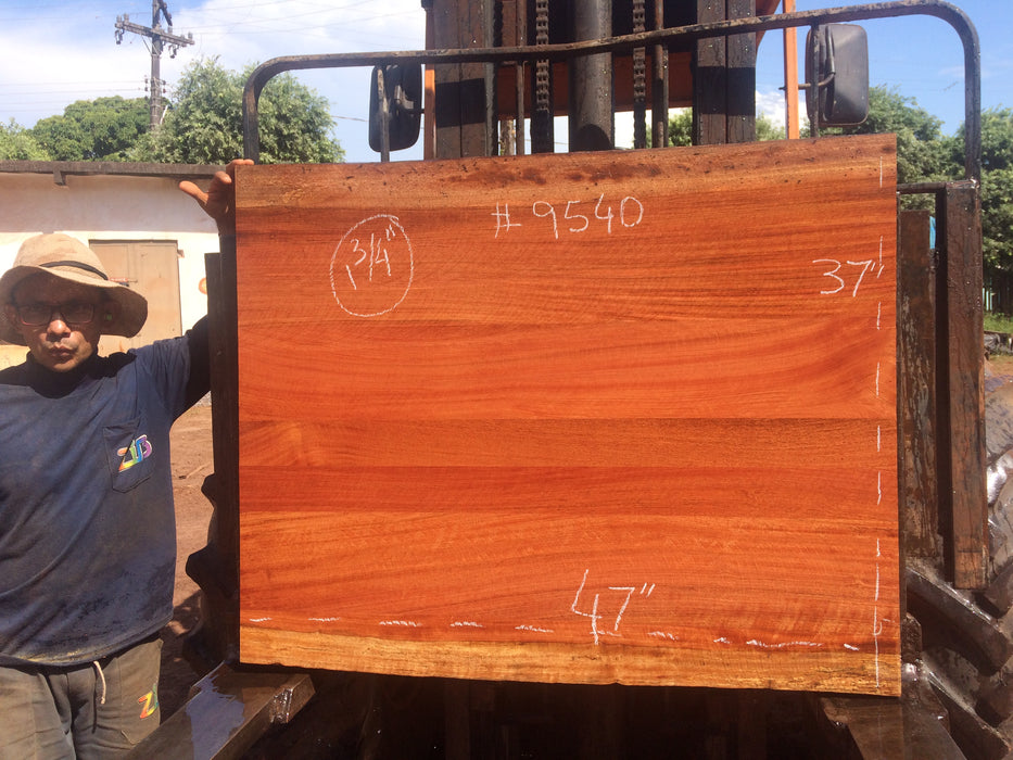 "Jatoba / Brazilian Cherry # 9540 – 1-3/4 x 37"" x 47″ FREE SHIPPING within the Contiguous US. - Big Wood Slabs"