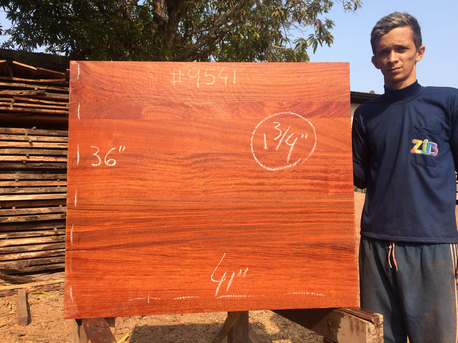 "Jatoba / Brazilian Cherry # 9541 – 1-3/4 x 36"" x 41″ FREE SHIPPING within the Contiguous US. - Big Wood Slabs"