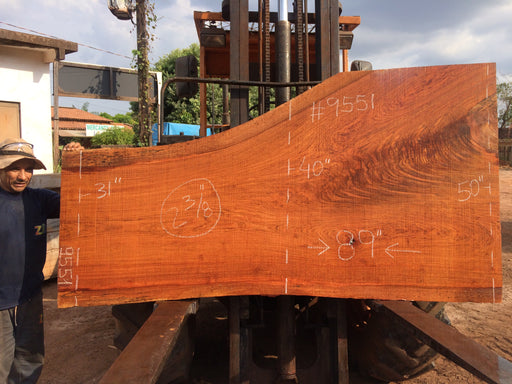 "Jatoba / Brazilian Cherry # 9551 – 2-3/8"" x 31"" to 50"" x 89″"