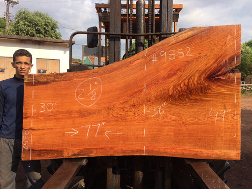 "Jatoba / Brazilian Cherry # 9552 – 2-1/8"" x 30"" to 49"" x 77″"