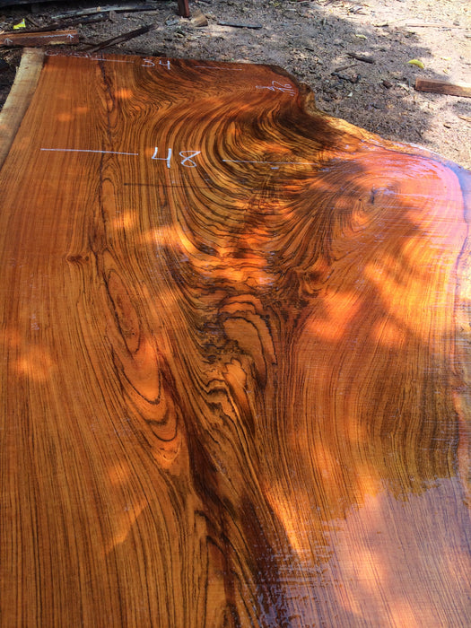 Jatoba-Brazilian Cherry – #9560 - 2-1/8″ x 29″ to 48″ x 106″ FREE SHIPPING within the Contiguous US. - Big Wood Slabs