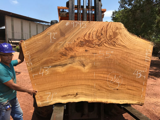"Pequiá  #9795- 2-1/4 x 43"" to 55"" x 71"" to 92"" FREE SHIPPING within the Contiguous US. - Big Wood Slabs"