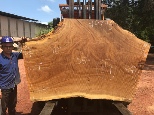 "Pequiá  #9796- 2-1/4 x 41"" to 55"" x 68"" to 90"" FREE SHIPPING within the Contiguous US. - Big Wood Slabs"