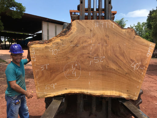 "Pequiá  #9797- 2-1/4 x 37"" to 52"" x 69"" to 90"" FREE SHIPPING within the Contiguous US. - Big Wood Slabs"