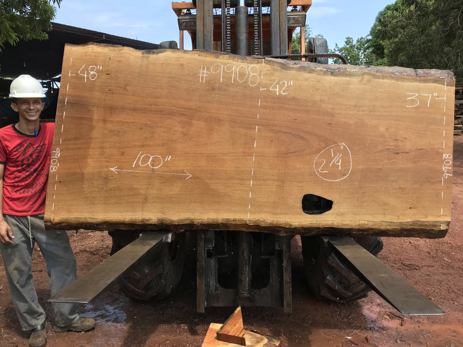 "Pequiá  #9908- 2-1/4 x 37"" to 48"" x 100"" FREE SHIPPING within the Contiguous US. - Big Wood Slabs"