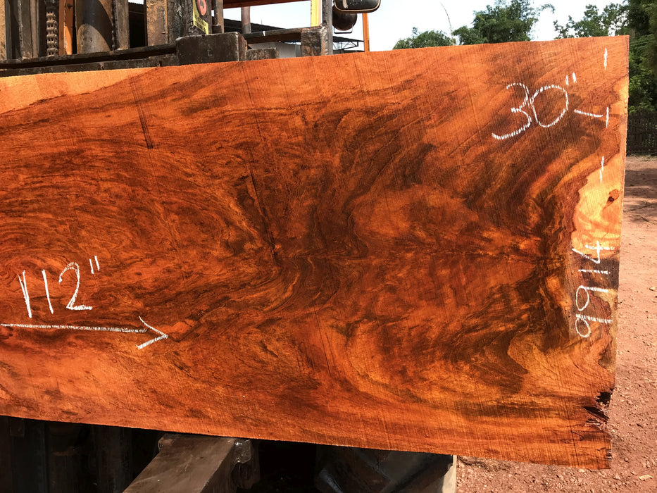 Jatoba-Brazilian Cherry – #9914 - 2-1/8″ x 30″ x 112″ FREE SHIPPING within the Contiguous US. - Big Wood Slabs