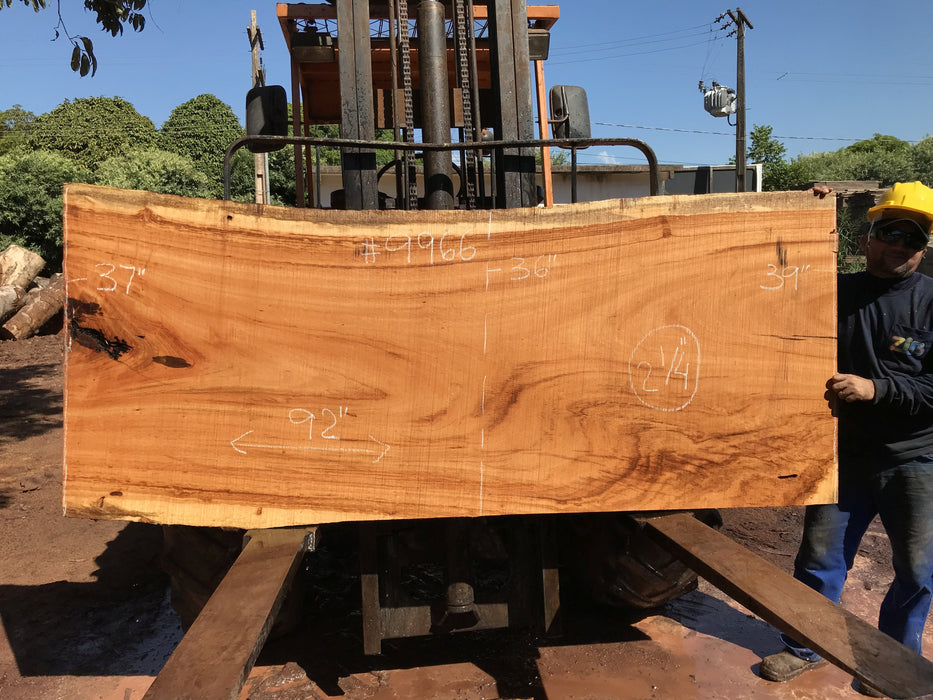 "Goncalo Alves / Tigerwood #9966 - 2-1/4"" x 36"" to 39"" x 92"" FREE SHIPPING within the Contiguous US."