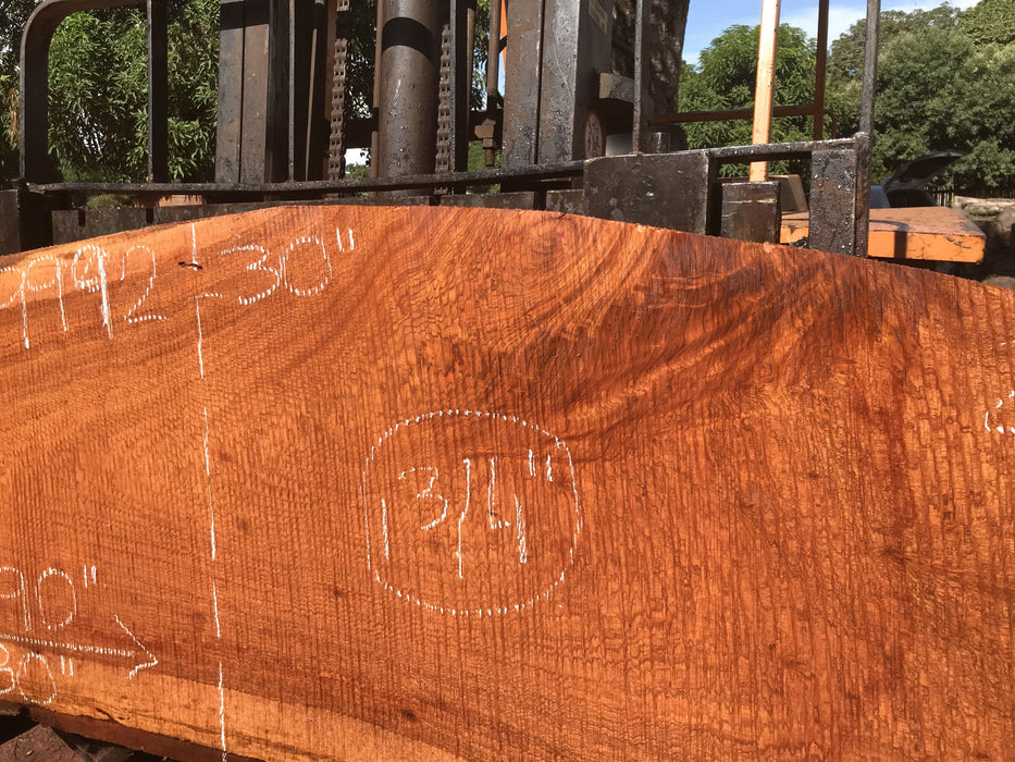 "Jatoba / Brazilian #9992 –1-3/4″ x 28″ to 30″ x  80"" to 90"" FREE SHIPPING within the Contiguous US. - Big Wood Slabs"