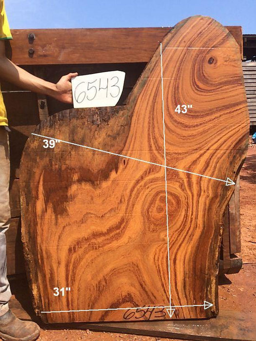 "Angelim Pedra #6543 - 2-1/2"" x 13"" to 39"" x 43"" FREE SHIPPING within the Contiguous US. - Big Wood Slabs"