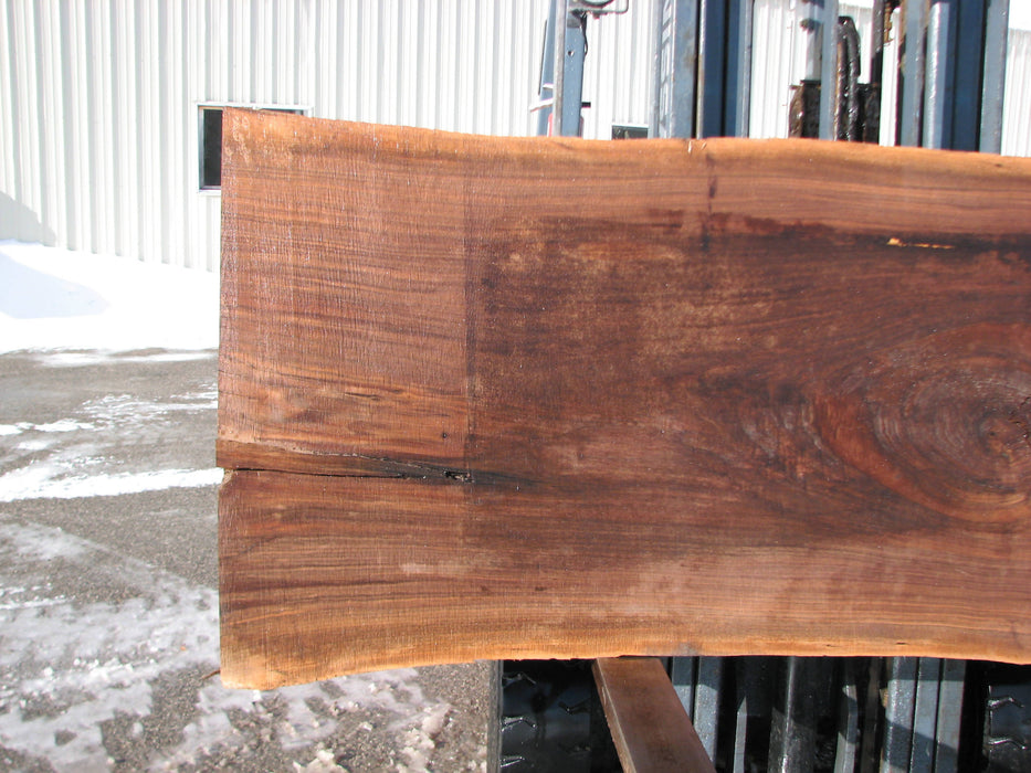"Walnut, American #7289(OC) 2-1/4"" x 28"" x 33"" x 99""- FREE SHIPPING within the Contiguous US. - Big Wood Slabs"