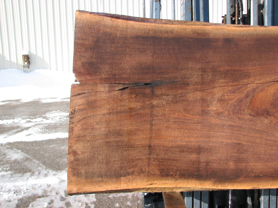 "Walnut, American #7288(OC) 2-1/2"" x 27"" x 28"" x 77""- FREE SHIPPING within the Contiguous US. - Big Wood Slabs"