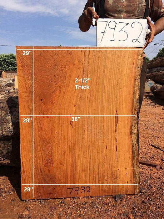 "Angelim Pedra #7932 - 2-1/2"" x 28"" to 29"" x 36"" - Big Wood Slabs"
