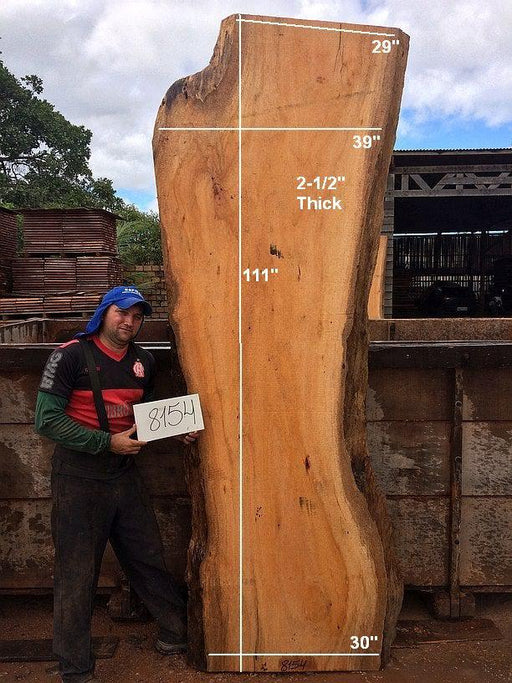 "Curatinga Mahogany / Cedrorana #8154 - 2-1/2"" x 29"" to 39"" x 111"" FREE SHIPPING within the Contiguous US. - Big Wood Slabs"