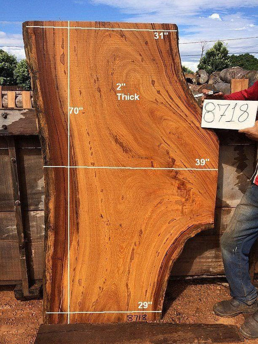 "Angelim Pedra #8718 - 2"" x 29"" to 39"" x 70"" FREE SHIPPING within the Contiguous US. - Big Wood Slabs"