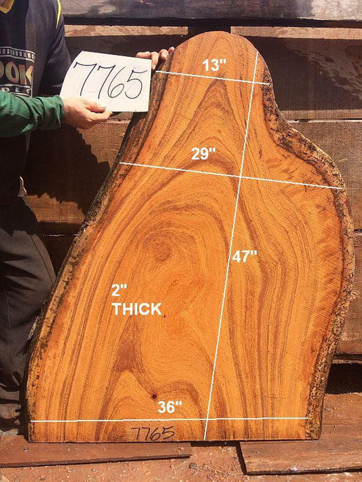 "Angelim Pedra #7765 - 2"" x 36"" x 47"" FREE SHIPPING within the Contiguous US. - Big Wood Slabs"