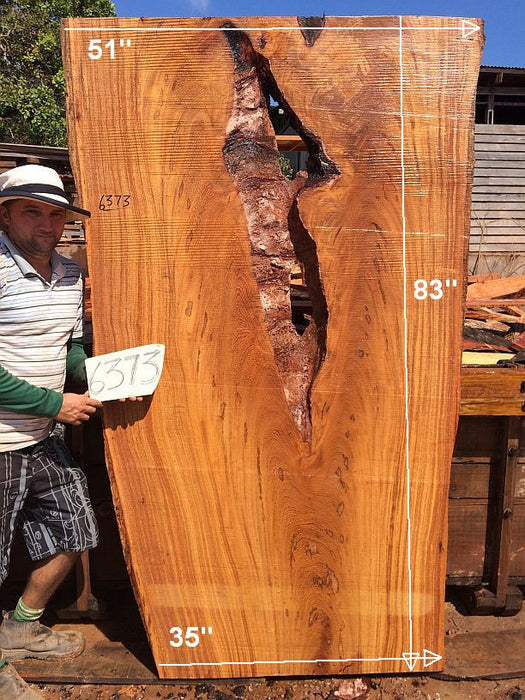 "Angelim Pedra #6373- 2-1/2"" x 35"" to 51"" x 83"" FREE SHIPPING within the Contiguous US. - Big Wood Slabs"