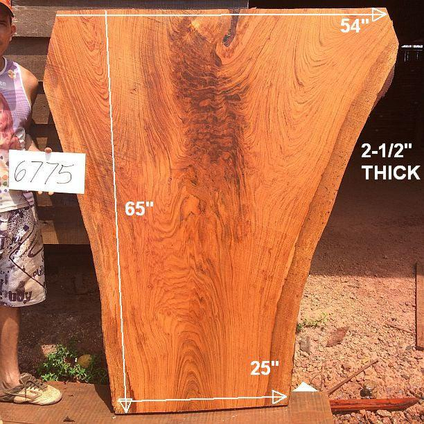 "Jatoba / Brazilian Cherry - 2-1/2"" x 25"" to 54"" x 65"" - Big Wood Slabs"