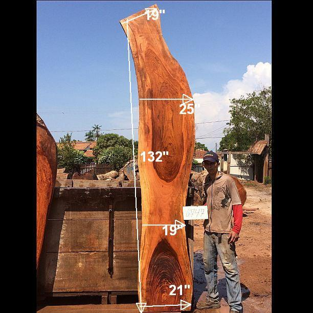 "Jatoba / Brazilian Cherry - 2"" x 19"" to 25"" x 132"" - Big Wood Slabs"