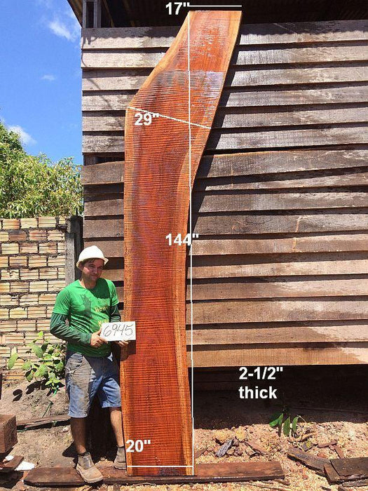 "Jatoba / Brazilian Cherry - 2-1/2"" x 20"" to 29"" x 144"" - Big Wood Slabs"