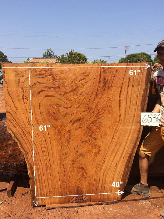 "Angelim Pedra #6536 - 2-3/4"" x 40"" to 61"" x 61"" FREE SHIPPING within the Contiguous US. - Big Wood Slabs"
