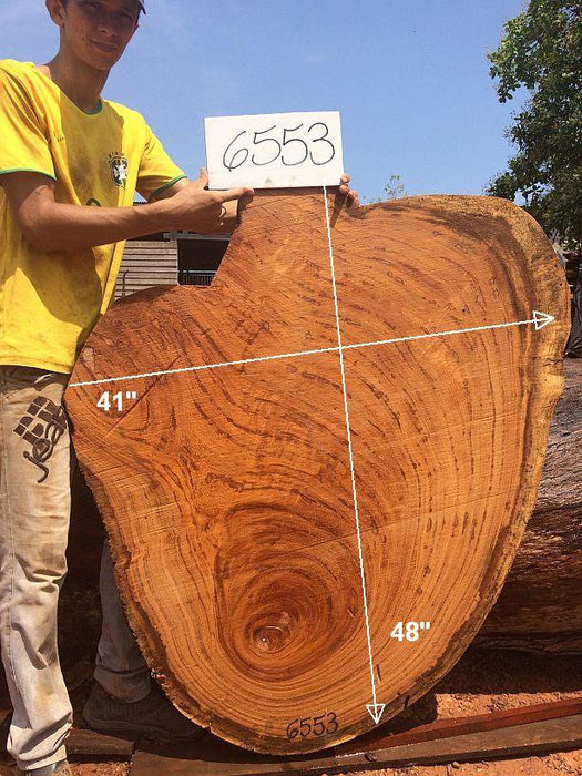 "Angelim Pedra #6553- 2-1/4"" x 41"" x 48"" FREE SHIPPING within the Contiguous US. - Big Wood Slabs"