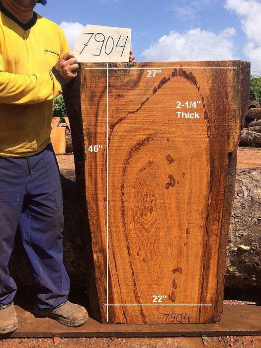 "Angelim Pedra #7904 - 2-1/4"" x 22"" to 27"" x 46"" FREE SHIPPING within the Contiguous US. - Big Wood Slabs"