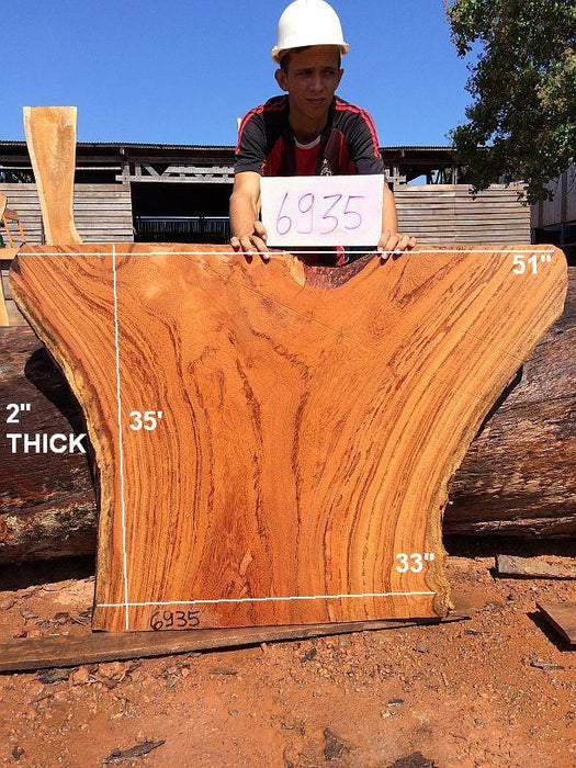 "Angelim Pedra #6935 - 2"" x 33"" to 51"" x 35"" - Big Wood Slabs"