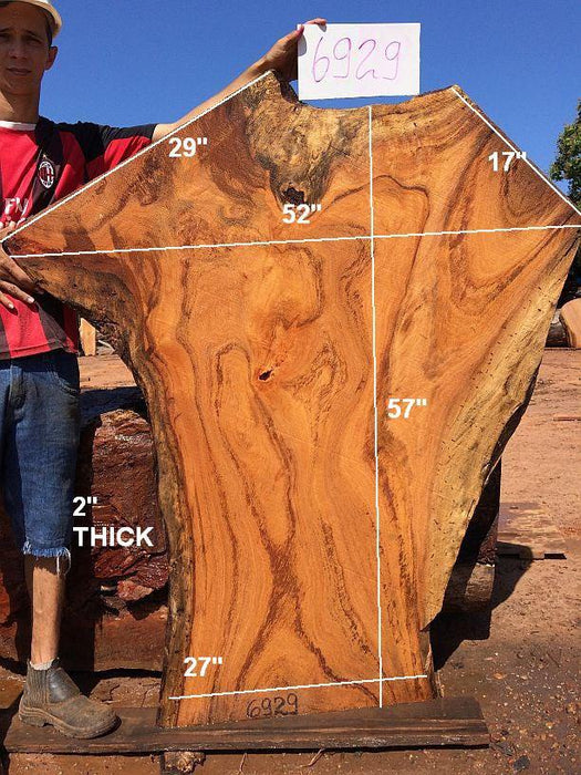 "Angelim Pedra #6929 - 2"" x 27"" to 52"" x 57"" - Big Wood Slabs"